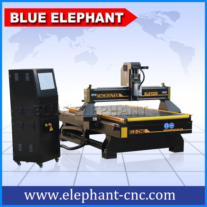 Ele1325 Cnc Router With Roller In Front Blue Elephant