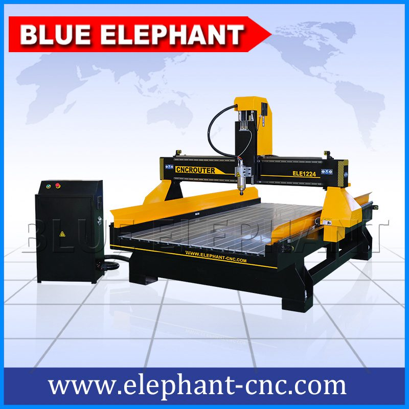 1224 High Z Axis Cnc Machinery With Rotary Device Blue